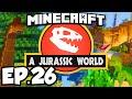 Jurassic World: Minecraft Modded Survival Ep.26 - RIDING A DINOSAUR!!! (Rexxit Modpack)