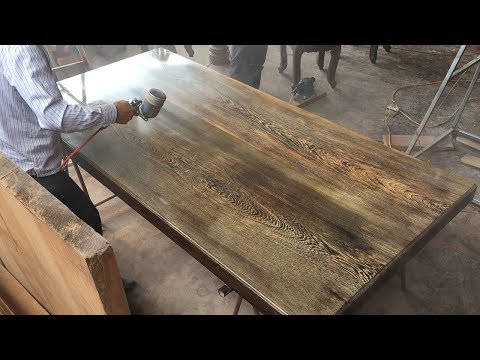How To Build Dining Table From Pairing Wood Logs // Amazing Product Completed
