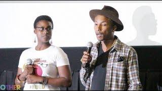 vuclip Issa Rae and Pharrell at the Awkward Black Girl Screening