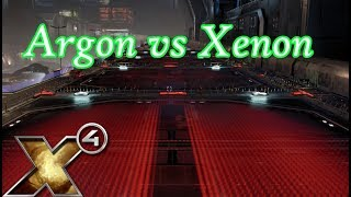 X4 Foundations Gameplay - First Argon vs Xenon Mission