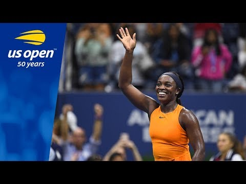 Sloane Stephens Wins in True Fashion