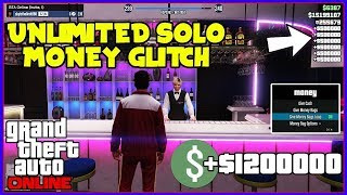 GTA 5 ONLINE SOLO MONEY GLITCH To Make U RICH - *All Consoles* (Unlimited Money EASY) ANYONE CAN DO!