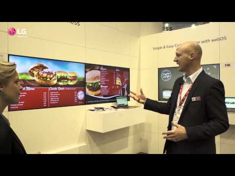 ISE2015 LG webOS Advantages for Digital Signage