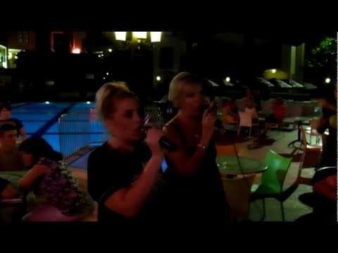 shell and jess karaoke stars @ club turquiose marmaris