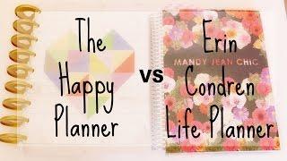 Erin Condren vs The Happy Planner