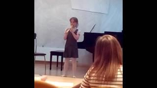 Первый открытый урок младшей флейта