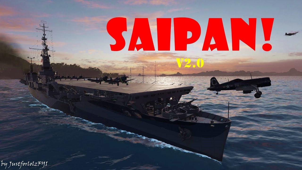 world of warships -  u0026quot new u0026quot  premium cv - uss saipan