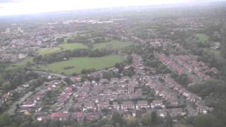 Landing at Manchester Airport, Greater Manchester, England - 25th May, 2015