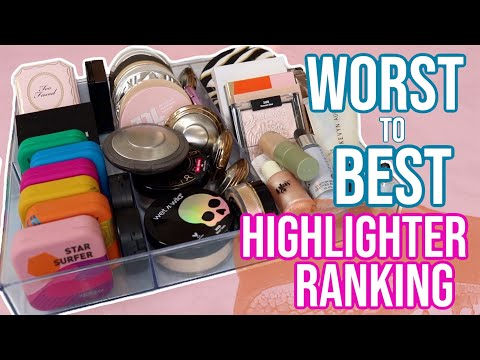 Ranking My Highlighters From Worst To Best!! (this was really hard...) | Lauren Mae Beauty
