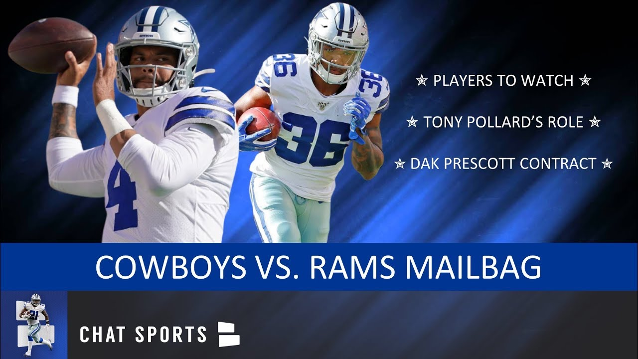 100% authentic fd621 f628a Cowboys Vs. Rams: Players To Watch Ft. Tony Pollard + Rumors On Dak  Prescott's Contract | Mailbag