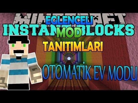 Minecraft : Eğlenceli Mod Tanıtımı : OTOMATİK EV MODU - Gökkuşağı Kulesi,Kendi Skini'ni Yaratma