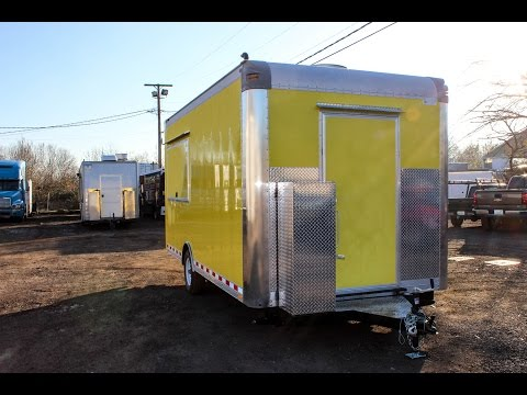 Yellow Concession Trailer for Portland, Oregon.