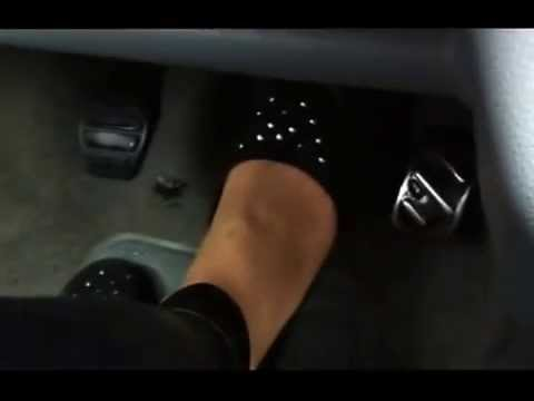 Asian girls pedal pumping in flats