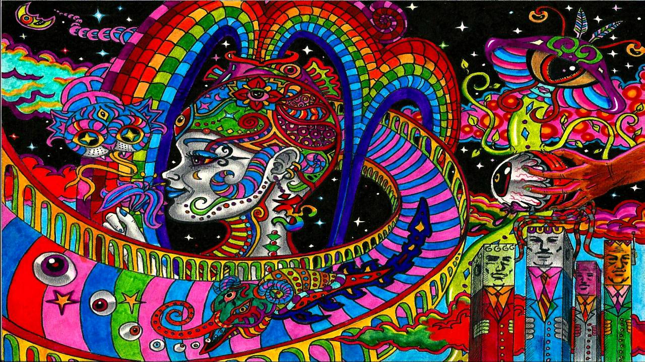 Ganja Wallpaper 3d Weed Psychedelic Trippy Stoner Type Beat Psychedelic