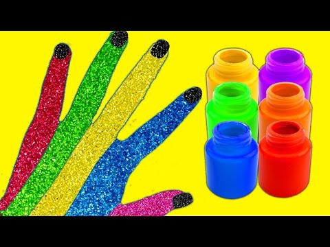 Thumbnail: Finger Family Nursery Rhymes Song Learn Colors Hand Body Paint Surprise Toys Finding Dory Nemo