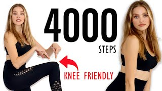 KNEE FRIENDLY 4000 Steps/ No Squats, No Jumping, Apartment Friendly Walking Workout/ Cardio At Home
