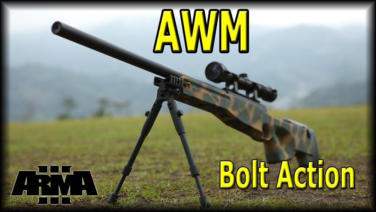 ArmA 3 - HLC AWM Pack Review (Actual bolt action hand animations!)
