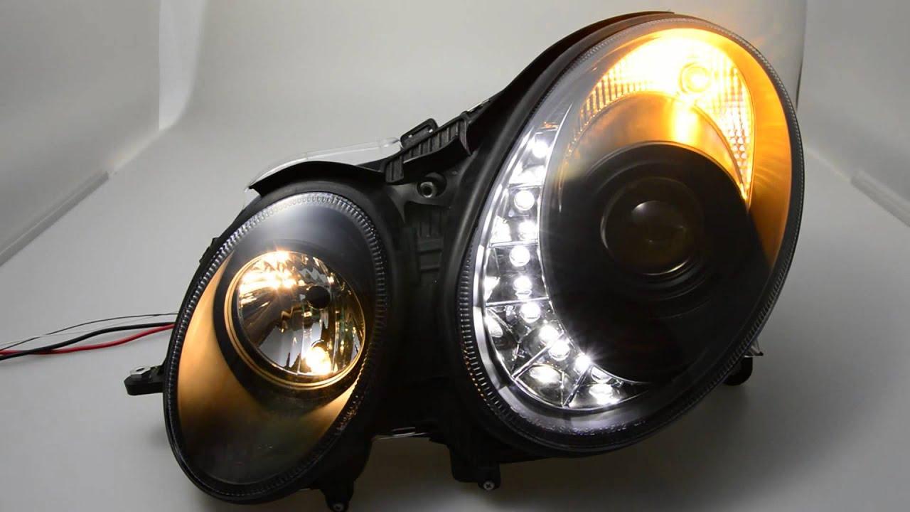 sw light xenon scheinwerfer mercedes e klasse w211 02 06