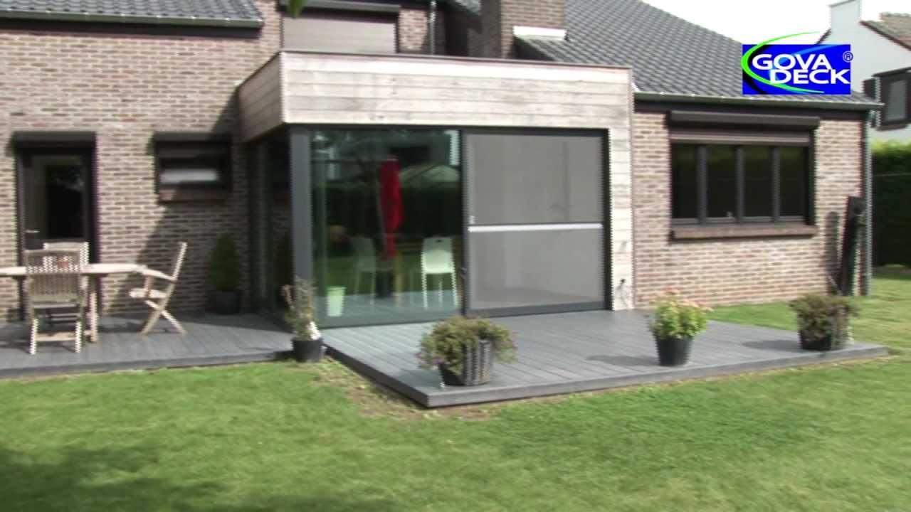 l 39 installation d 39 une terrasse govadeck youtube. Black Bedroom Furniture Sets. Home Design Ideas