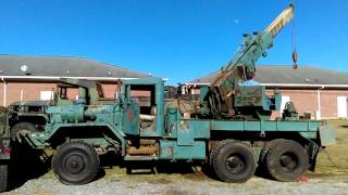 Sean operating the CMVPA M816 wrecker FOR SALE