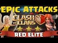 Epic Clash of Clans Attacks! Red Elite War Recap - 3 Stars in CoC