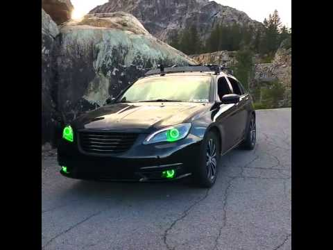 Chrysler 200 Color Changing Halo Headlights Youtube