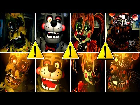 FNAF 6 All Jumpscares & All Deaths! (NEW UPDATE)