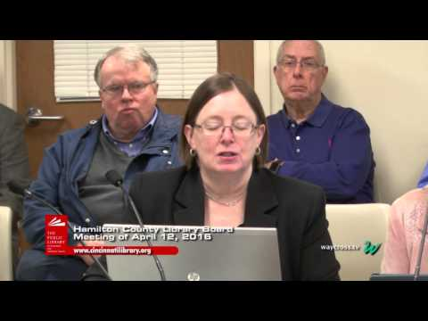 Hamilton County Library Board Meeting of April 12, 2016