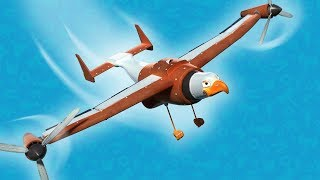 NEW ! AnimaCars ! Discover Meagle: Half Eagle, Half Plane Helicopter ! Cartoon with trucks & animals
