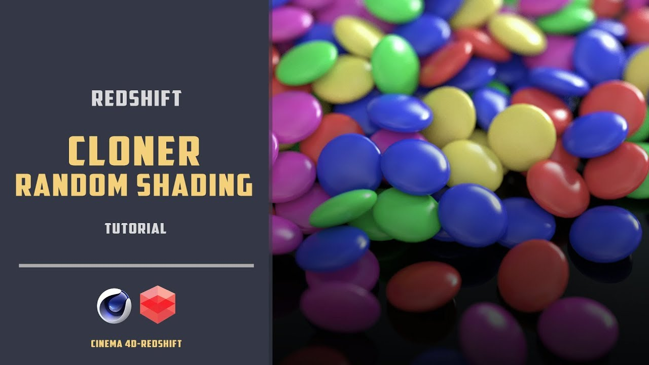 Redshift random shading for cloner objects
