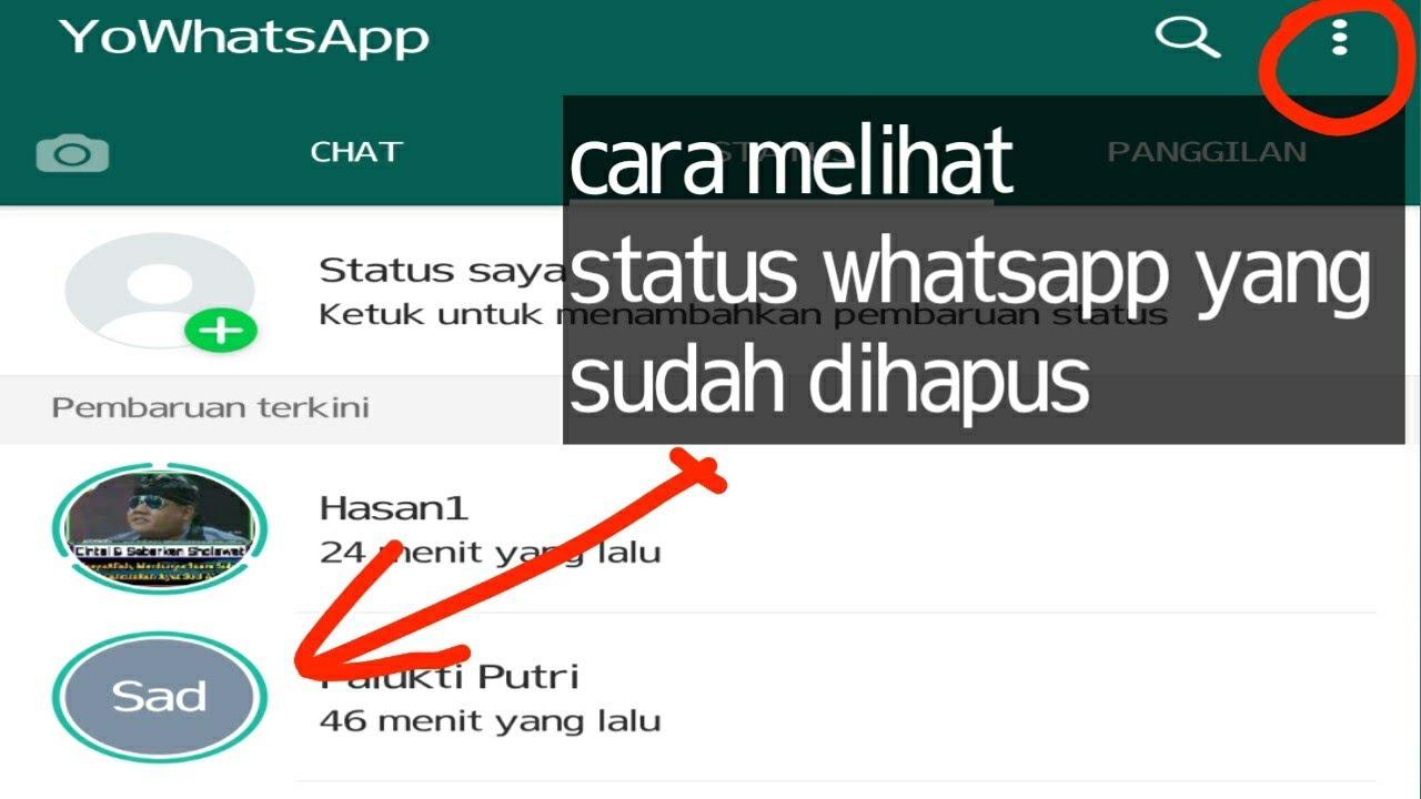 Cara melihat status whatsapp yang sudah dihapus - YouTube
