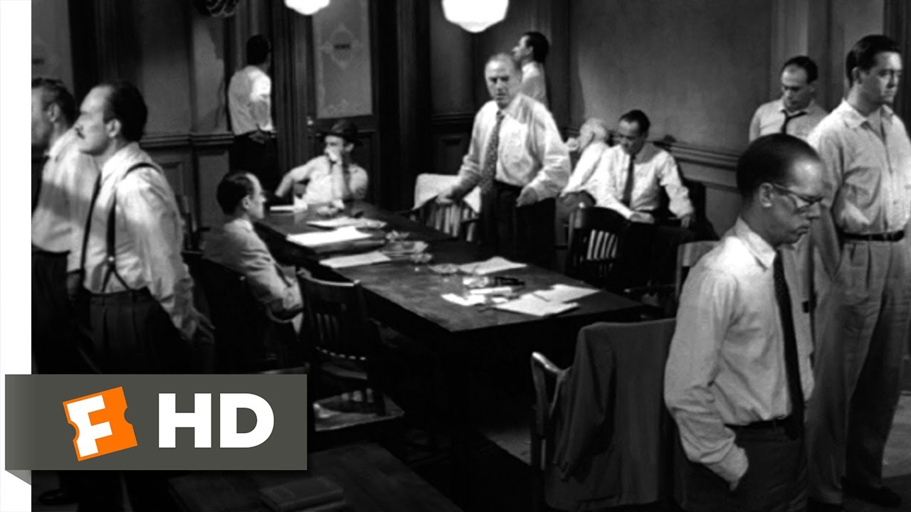 12 angry men an illustration of Berlin was far kinder to fonda and lumet's feature filmmaking debut, as 12 angry men went home with the prestigious golden bear this unorthodox courtroom drama tells the i wonder if the sheer physical size of the screen isn't something that automatically rules out tragedy, for example then you must be against the.