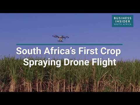 South Africa's First Crop Spraying Drone Takes Flight