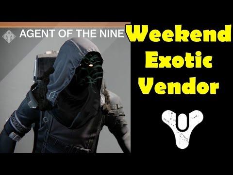 Destiny Xur Agent of the Nine Weekend Vendor Exotic Secret Mote of Light Strange Coin