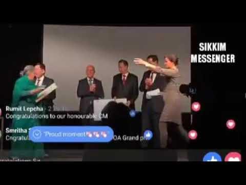 Sikkim CM Pawan Kumar Chamling honoured Award in Germany