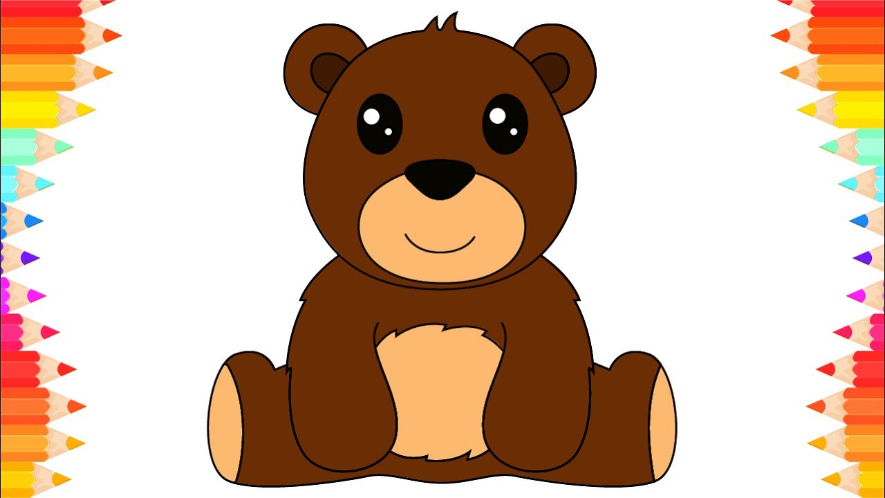 how to draw teddy bear for kids diy coloring pages art for kids
