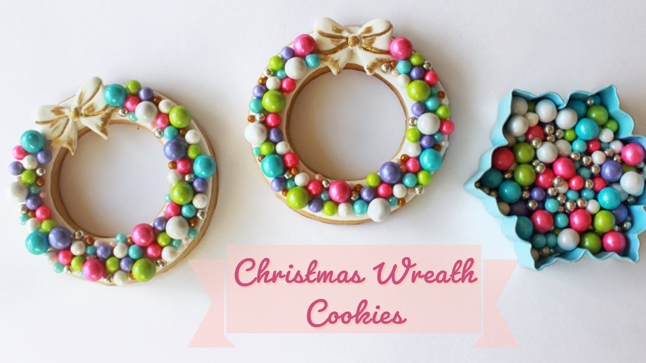 How To Decorate Cute Christmas Wreath Cookies