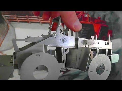 ORIGAMI Radlader aus lasergeschnittenem EDELSTAHL | folding lasercutted STAINLESS STEEL wheel loader