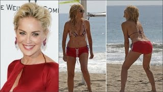 58 летняя Шэрон Стоун поразила фигурой на пляже