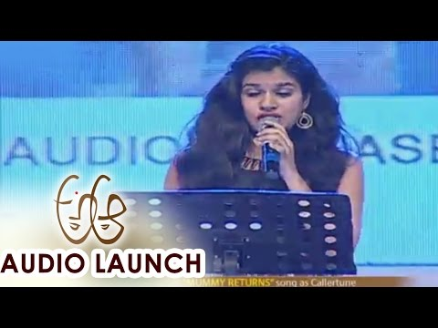 Sravana Bhargavi Live Performance at A Aa Audio Launch || Nithiin, Samantha
