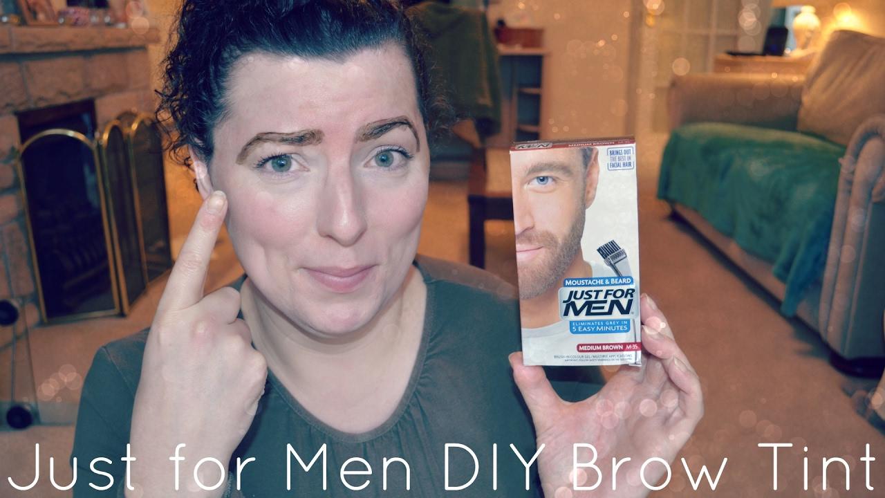 Diy Brow Tint Using Just For Men Experimental Beauty Fun Wavykate