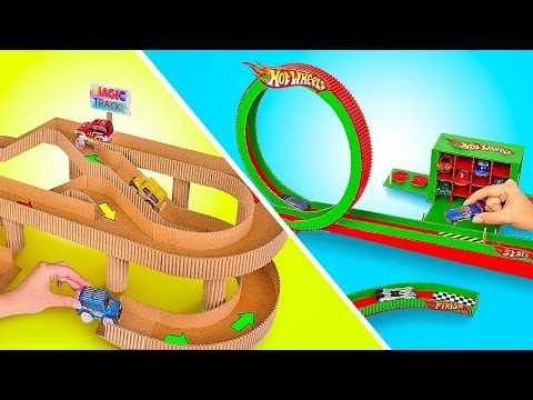 Awesome Cardboard Race Tracks For Toy Cars |