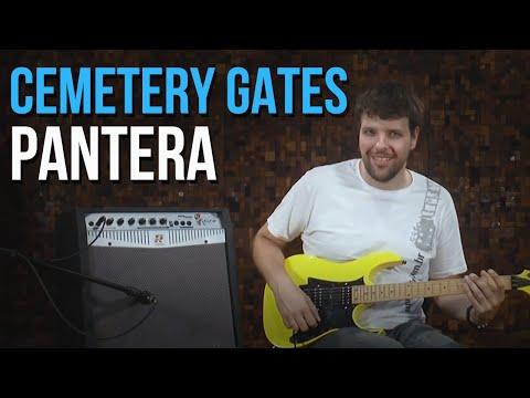 Pantera - Cemetery Gates (como tocar - aula de guitarra)