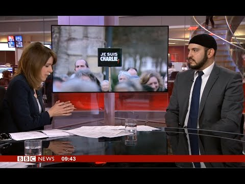 BBC News 24: Abdullah al Andalusi discusses Charlie Hebdo, Free Speech and French Muslim community