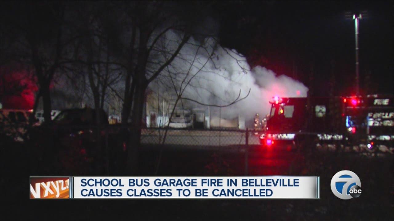 School bus garage fire in Belleville causes Van Buren Public ...