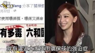 王心凌 強迫症 逼用環保筷 蘋果日報 20140813
