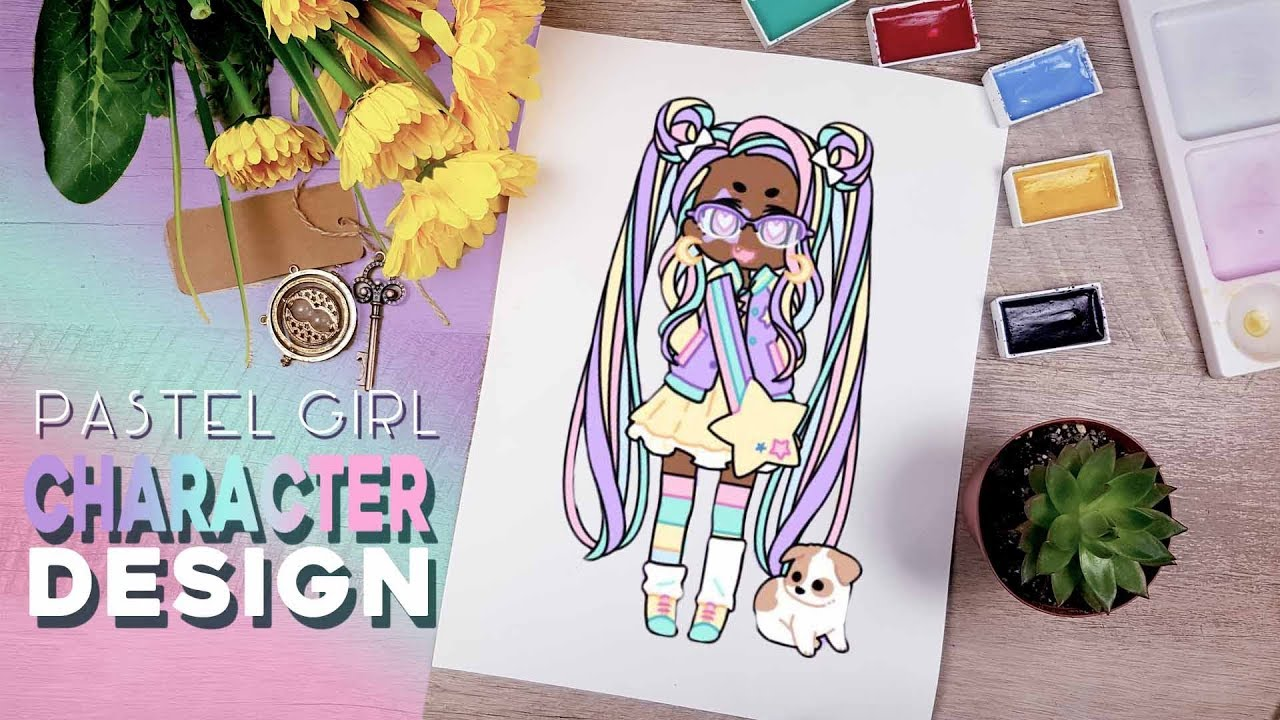 Swan Creates: PASTEL GIRL CHARACTER DESIGN