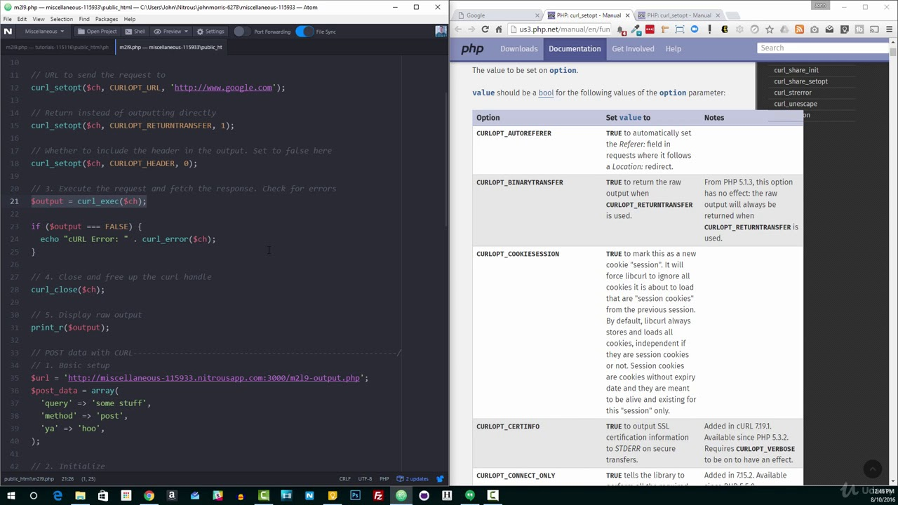 learn curl php