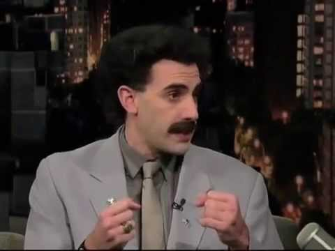 David Letterman   Borat (Full Interview). The best english comedy