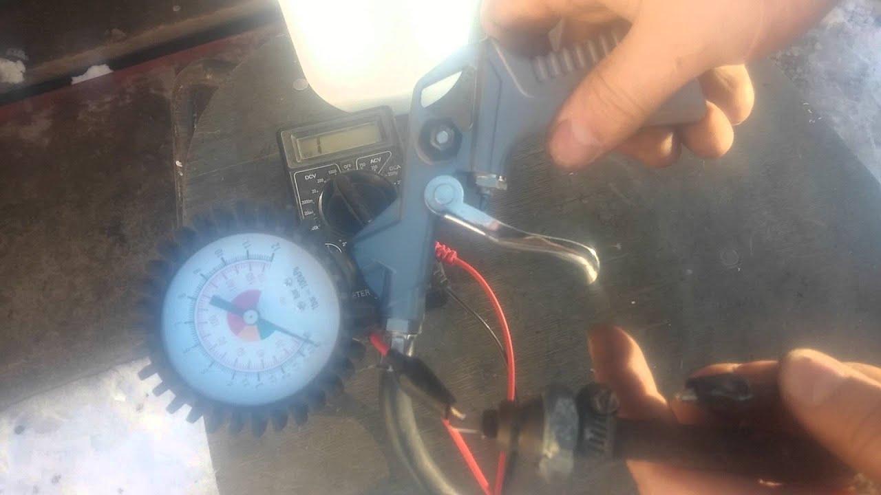 Проверка датчика аварийного давления масла.Опрессовка.